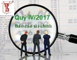 CÔNG BỐ THÔNG TIN BCTC QUÝ IV/2017